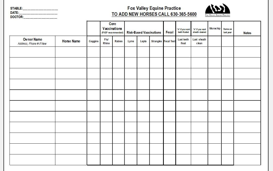 Fall 2019 Sign-Up Sheet for Routine Work
