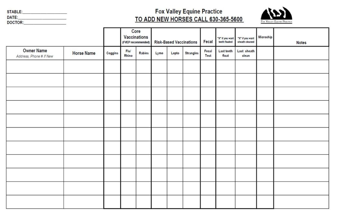 2020 Fall Sign-Up Sheet Routine Work
